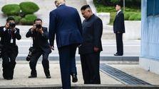 یک لحظه تاریخى در مرز کره شمالى+عکس